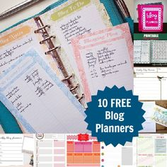10 Free Blog Planners to Download...{Time to get things organized and planned for 2013}  (5/10/2013)