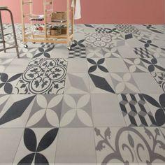 Sol PVC gris shalimar, ARTENS Textile l.2 m