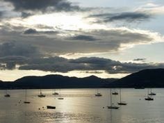 Sail boats in the evening @ Gourock