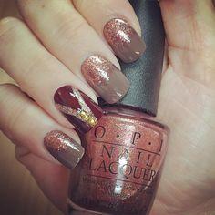 Fall nail art OPI