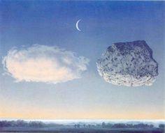 René Magritte, Mature Period - La Bataille de l'Argonne, x 24 in. / 50 x 61 cm Rene Magritte, Art Moderne, Night Skies, Dark Art, Painting Inspiration, Art Images, Photo Art, Fantasy Art, Renoir