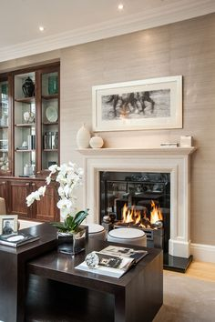 Slim Profile Fireplace