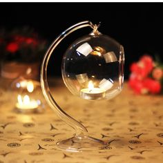 Hanging Candle Holder | Wedding Decor | Hotel Decoration | Romantic Dinner | Candle Light Dinner | Flower Vase | Glass Candle Holder | Glass Bulb | Glass Terrarium