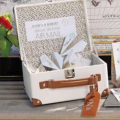 Mini Suitcase Wishing Well Wedding Party Keepsake | Candy Cake Weddings
