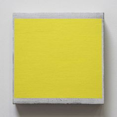 Douglas Witmer, Yellow, 2013, Black Gesso and acrylic on linen over panel, 10 x 10 inches, $1000, #BMGBalletX #PhillyArtExperience, for more information contact jmurphy@bridgettemayergallery.com