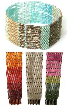 Cuff the NetThis soft and slinky cuff-style bracelet is a true pleasure to make and wear. The pattern includes detailed color illustrations ...