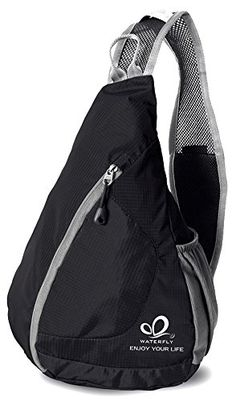 WATERFLY Packable Shoulder Backpack Sling Chest CrossBody Bag Cover Pack Rucksack for Bicycle Sport Hiking Travel Camping Bookbag Men Women -- You can get more details by clicking on the image. Amazon Affiliate Program's Ads.