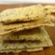 Hartige crackers van amandelmeel en lijnzaad met italiaanse kruiden.