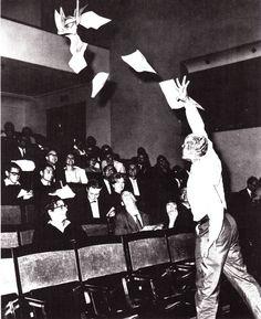 Dick Higgins, Danger Music No.2, 1962. Performance at Fluxus Internationale Festspiele Neuester Musik, Wiesbaden 1962.