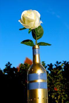 DIY Wine Bottle Vase