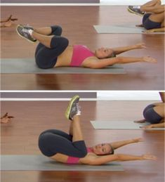 10 moves for a flat stomach...now if I would just do them!