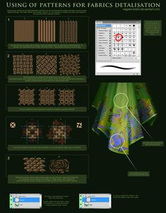 fabric patterns tutorial by oione on DeviantArt