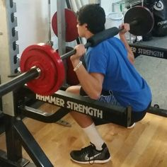 Enhance Fitness studio 12/1/15 strength and conditioning training. Weighted squats with Austin!