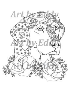 art of labrador single coloring page by artbyeddy on etsy