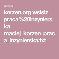 korzen.org wsisiz praca%20inzynierska maciej_korzen_praca_inzynierska.txt