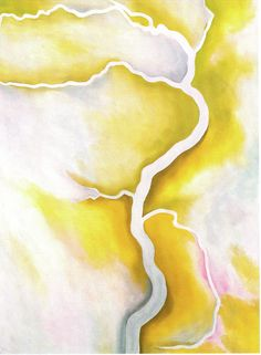 Georgia O'Keeffe, From the River - Pale, 1959, Oil on canvas, 41 1/2 x 31 3/8 inches, Gift of the Georgia O'Keeffe Foundation, ©Georgia O'Keeffe Museum