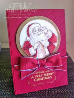 Stampin' Up! Australia - Tina White - Time to Ink Up - Independent Stampin' Up! Demonstrator: Santa's List