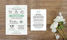 Download this FREE Wedding Invitation Template and print out as many copies as you need! ahandcraftedwedding.com.