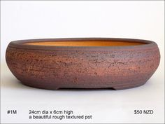 Fionna's Bonsai Pots, Kiwi Made, In New Zealand: Medium Kiwi, Plates And Bowls, New Zealand, Stoneware, Decorative Bowls, Pottery, Ceramics, Pots, Flat