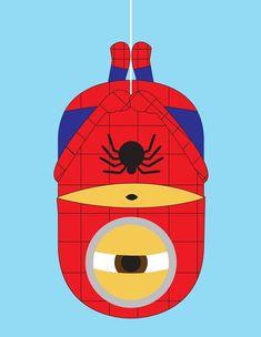 Minions super heros spiderman