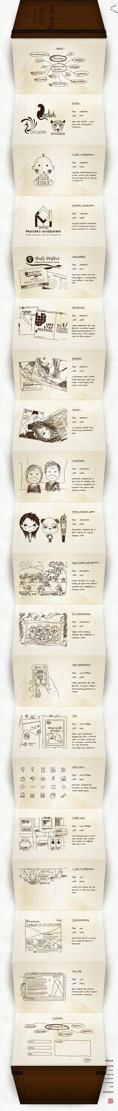 Unique Web Design, Wing Cheng via @cairulin #WebDesign #Design