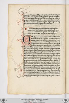 Vatican Archives • Inc.I.33: Inc.I.33 Lactantius Firmianus, Lucius Caecilius, c. 245-c. 323: Opere (12 febbraio 1474)