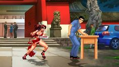 MUGEN無限格鬥 不知火舞 VS 阿部高和 Street Fighter Characters, King Of Fighters, Park, Parks