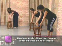 Movimentos de pilates para serem feitos em casa ou no escritório - YouTube