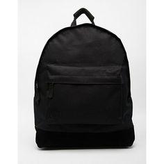Mi-Pac Classic Backpack in All Black (9.950 HUF) ❤ liked on Polyvore featuring bags, backpacks, black, black backpack, zip bags, knapsack bags, zipper bag and black zipper bag