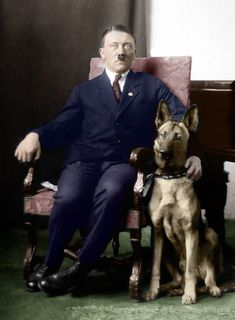 The Führer and his dog before Blondi and Blonda, named 'Prinz'.