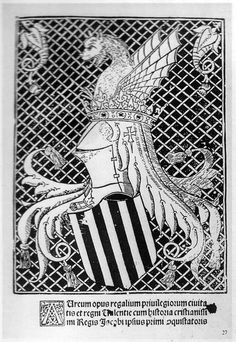 1515.DESIGN (spain) - Aureum Opus portada. Spanish woodcut illustrations had a white on black emphasis.