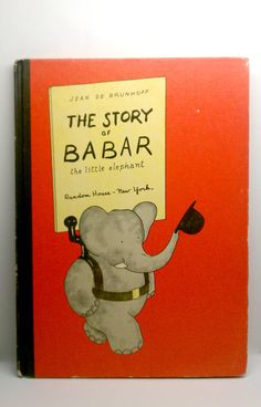1960 The Story of Babar Vintage Childrens Book, $14.00