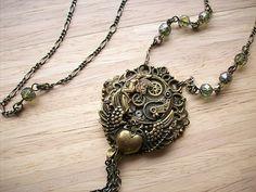 Time Machine Steam Punk Necklace
