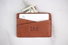 Personalized Leather Monogram Slim Wallet | Minimalist Simple Festival Pocket Wallet | Custom Wallet | Groomsman Gift Pocket Wallet, Slim Wallet, Slim Leather Wallet, Valentine Day Gifts, Valentines, Branding Process, Black Gift Boxes, Minimalist Wallet, You Are The Father
