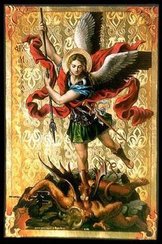 Saint Michael Novena Written by Traditional Saint Michael, St Michael Novena, St. Michael, Angels Among Us, Angels And Demons, Religious Images, Religious Art, Saint Suaire, Saint Gabriel