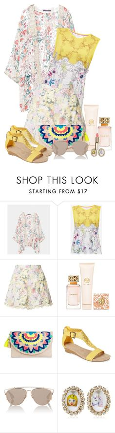 """""""Wear it in a Shorts!"""" by sarahguo ❤ liked on Polyvore featuring Violeta by Mango, Ted Baker, Zimmermann, Tory Burch, Merona, Kenneth Cole Reaction, Christian Dior, Bijoux de Famille and WearIt"""