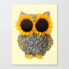 Hoot! Day Owl! Stretched Canvas by Marco Angeles | Society6