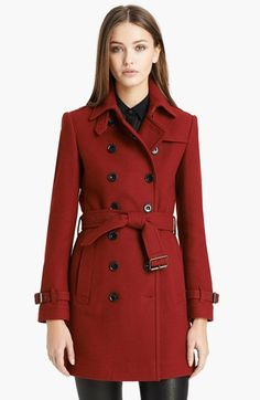 Burberry Brit 'Crombrook' Wool Blend Trench Coat @Nordstrom