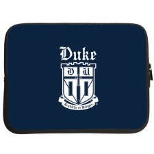 """Duke University Collection of Gifts - Duke® 15"""" Laptop Sleeve University Store, Duke University, Duke Blue Devils, Porsche Logo, Laptop Sleeves, Gifts, Stuff To Buy, Collection, Presents"""