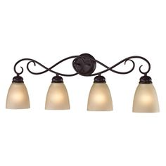 Westmore Lighting Sunbury 4-Light Oil Rubbed Bronze Oval Vanity Light