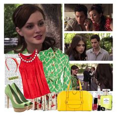 """""""Much 'I Do' About Nothing - s01e18 - Blair"""" by thegossiplook ❤ liked on Polyvore featuring Roberto Cavalli, Diane Von Furstenberg, Love Moschino, Schutz, Chanel, Marc Jacobs, Tiffany & Co., blair waldorf, leighton meester and gossip girl"""