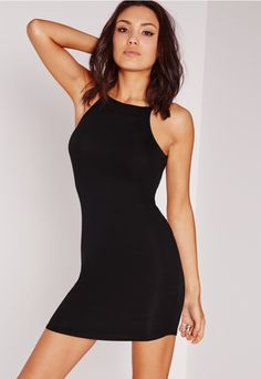 At Missguided, we think every girl's gotta own those basic essentials that can be paired with almost anything! Here's your go-to little black mini dress which has 'be mine' written all over it. Featuring figure-flattening fabric, you'll be ...