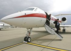 Private jet front