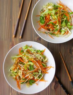 Shredded Cabbage, Carrot, and Daikon Salad with Ginger Dressing | Frugal Nutrition