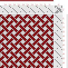Hand Weaving Draft: Page 220, Figure 6, Orimono soshiki hen [Textile System], Yoshida, Kiju, 7S, 7T - Handweaving.net Hand Weaving and Draft Archive