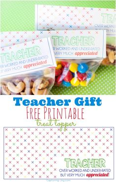 Great teacher gift idea as we get closer to heading back to school!  Plus free gift bag printable!