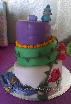Coolest Sleeping Beauty Baby Shower Cake... This website is the Pinterest of birthday cake ideas