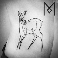 Single line tatoo Artist Mo Ganji