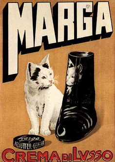 Cats in Art, Illustration and photography: Marga Shoe Polish