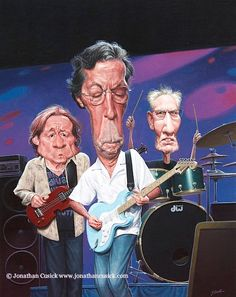 Eric Clapton.   #ClassicRockArt